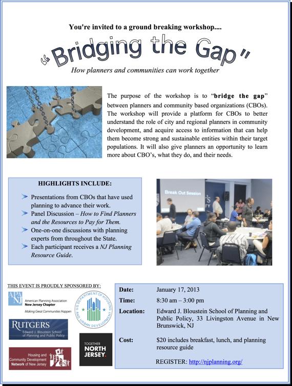 APA-NJ Bridging the Gap