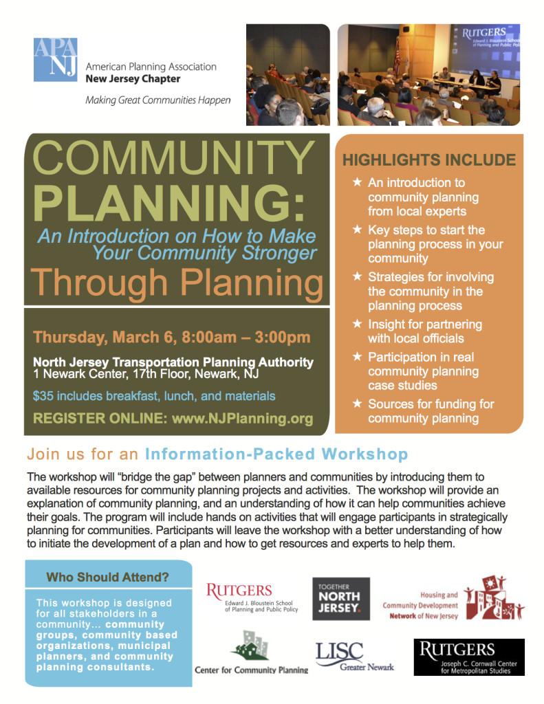 Community Planning Workshop 040614