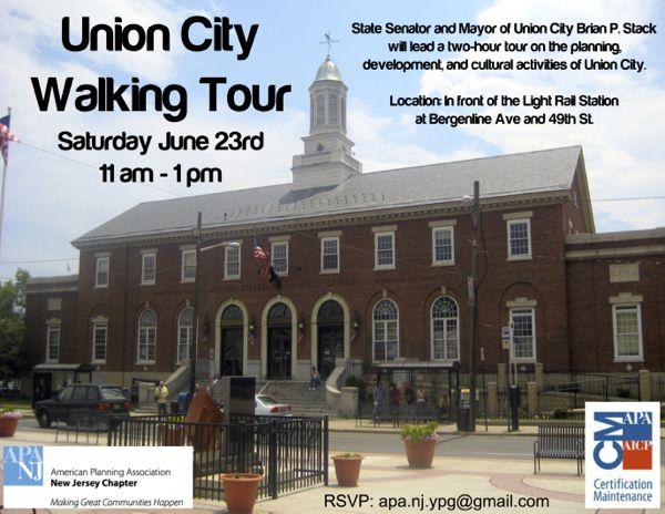 union city walking tour cm pending